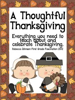 A Thoughtful Thanksgiving (Common Core aligned Math and Li