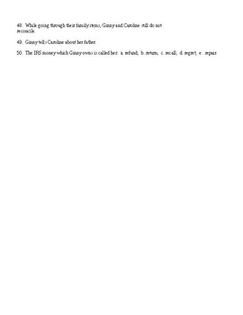 A Thousand Acres Books 4 to End Reading Check Test/Quiz