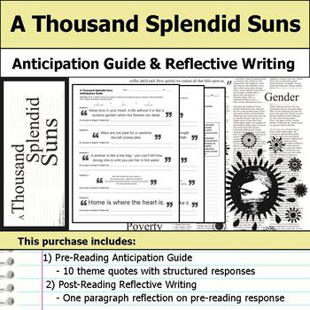 A Thousand Splendid Suns - Anticipation Guide & Reflection