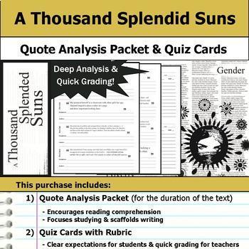 A Thousand Splendid Suns Unit Bundle