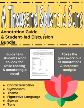A Thousand Splendid Suns Annotation Guide and Student-led Discussion Bundle