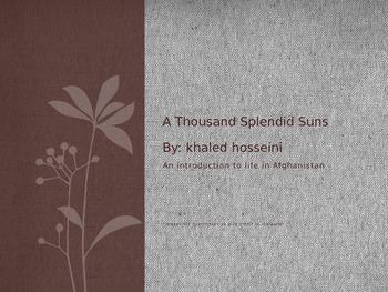 A Thousand Splendid Suns Introduction Powerpoint