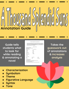A Thousand Splendid Suns Annotation Guide