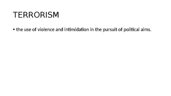A Thousand Splendid Suns--Terrorism and the Taliban Powerpoint