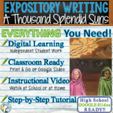 A Thousand Splendid Suns   Citing Text Evidence Essay Prompt   Print and Digital