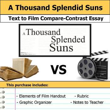 A Thousand Splendid Suns - Text to Film Essay Bundle