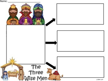 A+  Three Kings or Three Wisemen ... Three Graphic Organizers