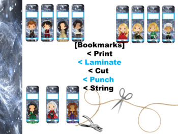 A Throne of Glass Bookmarks and Hang-Ems