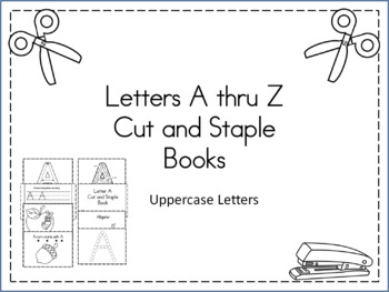 A Thru Z Cut and Staple Books Uppercase Letters