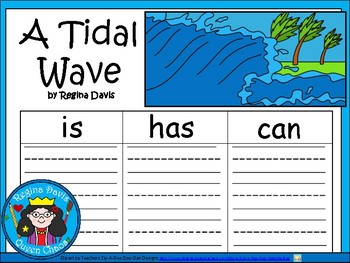 A+ Tidal Wave ...Three Graphic Organizers