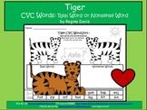 A + Tiger CVC Word Sort: Real Or Nonsense Words