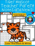 A+ Tiger: *EDITABLE* Papers For Teacher News and Notes To Parents