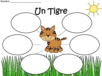 A+ Tiger: Un Tigre...Three Spanish Graphic Organizers