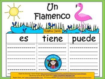A+ Flamingo: Un Flamenco...Three Spanish Graphic Organizers