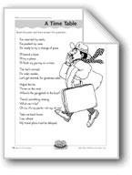 A Time Table (Long Vowel Sounds)