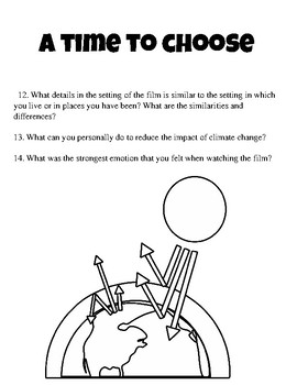 A Time  To Choose Movie Questions