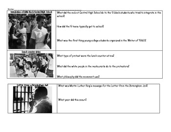 A Time for Justice Civil Rights Lesson with Ruby Bridges Viewing Guide