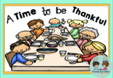A Time to be Thankful (K ebook with Math and Literacy)