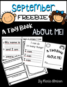 A Tiny Book About Me {My Monthly FREEBIE}