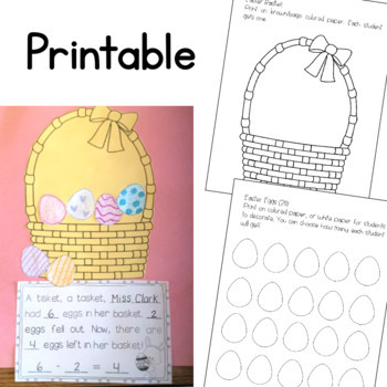 Easter Subtraction Craftivity