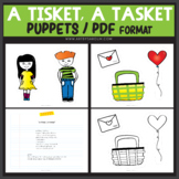 A Tisket, A Tasket Nursery Rhyme POEM and PUPPETS