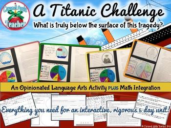 A Titanic Challenge: An Opinionated ELA Activity Plus Math!