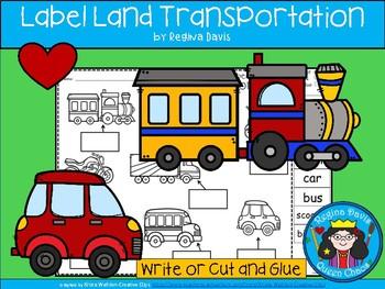 A+ Transportation Labels Set 1: I Can Label Land Transportation