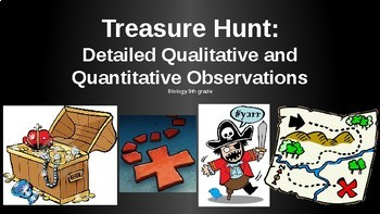 A Treasure Hunt using Qualitative and Quantitative Observations