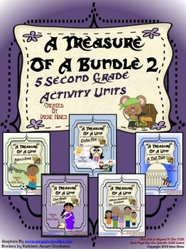 Treasures ~ A Treasure Of A Bundle #2 : Five Activity Book Units For 2nd Grade