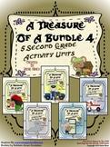 Treasures ~ A Treasure Of A Bundle #4 : Five Activity Book Units For 2nd Grade