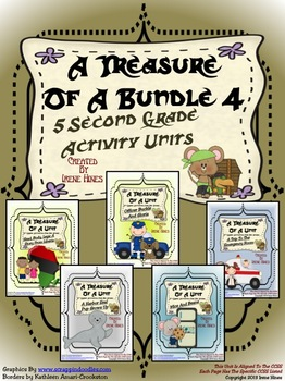 Treasures ~ A Treasure Of A Bundle #4 : Five Activity Book Units For 2nd Grade