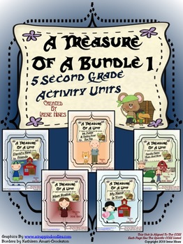 Treasures ~ A Treasure Of A Bundle #1 : Five Activity Book Units For 2nd Grade