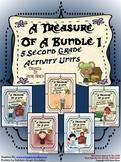 Treasures ~ A Treasure Of A Bundle #1 : Five Activity Book Units For 2nd Grade