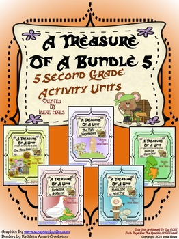 Treasures ~ A Treasure Of A Bundle #5 : Five Activity Book Units For 2nd Grade
