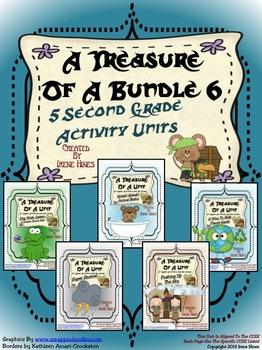 Treasures ~ A Treasure Of A Bundle #6 : Five Activity Book Units For 2nd Grade