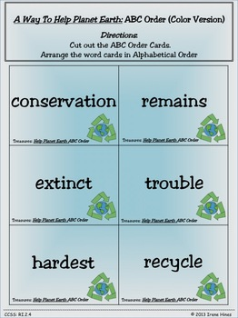 Treasures ~ A Treasure Of A Unit For 2nd Grade: A Way To Help Planet Earth