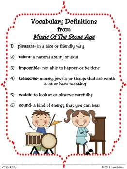 Treasures ~ A Treasure Of A Unit For 2nd Grade : Music From The Stone Age ~