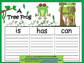 A+  Tree Frog... Three Graphic Organizers