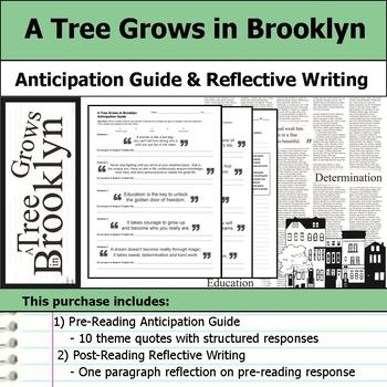 A Tree Grows in Brooklyn - Anticipation Guide & Reflection