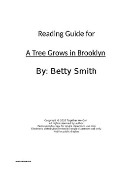 A Tree Grows in Brooklyn - Complete Reading Guide Chapters 1-56!