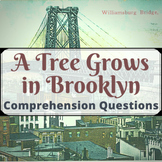 A Tree Grows in Brooklyn Comprehension Questions (6 quizze