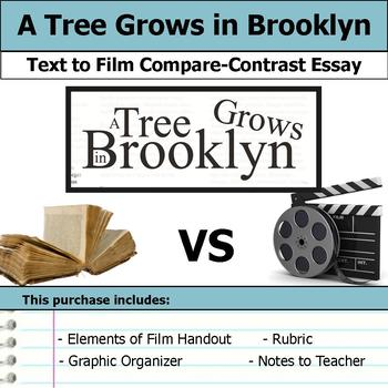 A Tree Grows in Brooklyn - Text to Film - Compare and Contrast Essay Bundle
