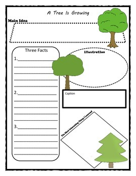 A Tree Is Growing Story Map Graphic Organizer