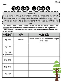 A Tree is Growing (Journeys Supplemental Materials)