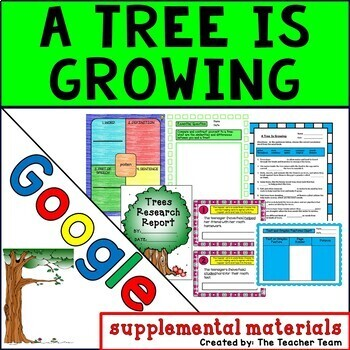 A Tree is Growing Journeys 3rd Grade Unit 4 Lesson 18 Google Drive Resource