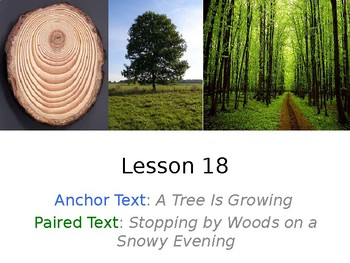 A Tree is Growing PowerPoint Weekly Activities Journeys 3rd Grade