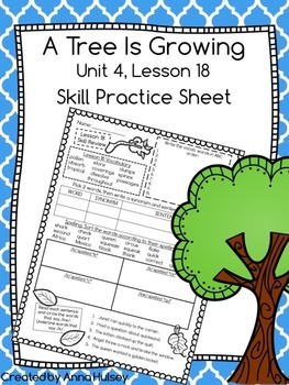 A Tree is Growing (Skill Practice Sheet)