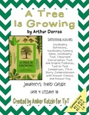 A Tree is Growing Mini Pack Activities 3rd Grade Journeys Unit 4, Lesson 18