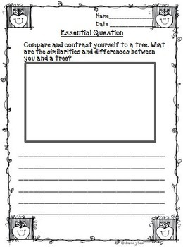 A Tree is Growing Journeys 3rd Grade Unit 4 Lesson 18 Activities & Printables