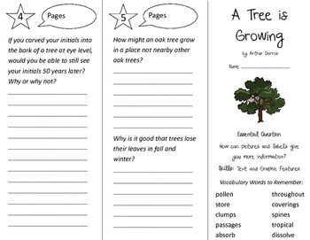 A Tree is Growing Trifold - Journeys 3rd Grade Unit 4 Week 3 (2011)